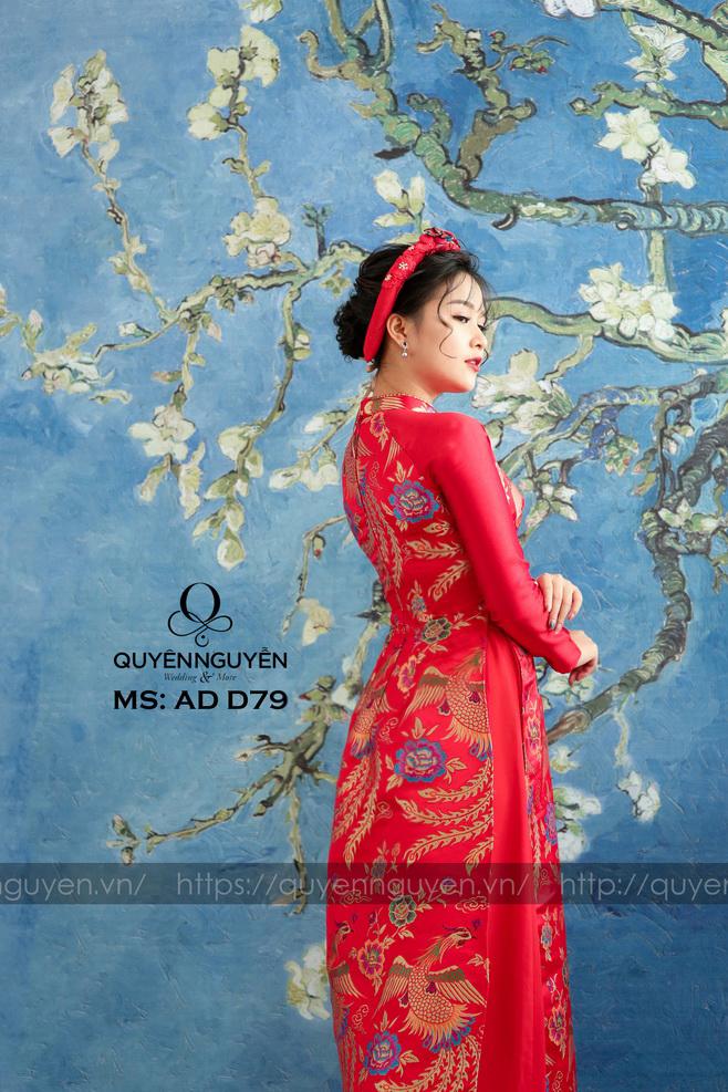 Áo dài đỏ AD D79