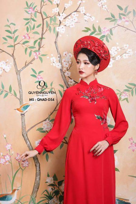 Áo dài đỏ AD D54