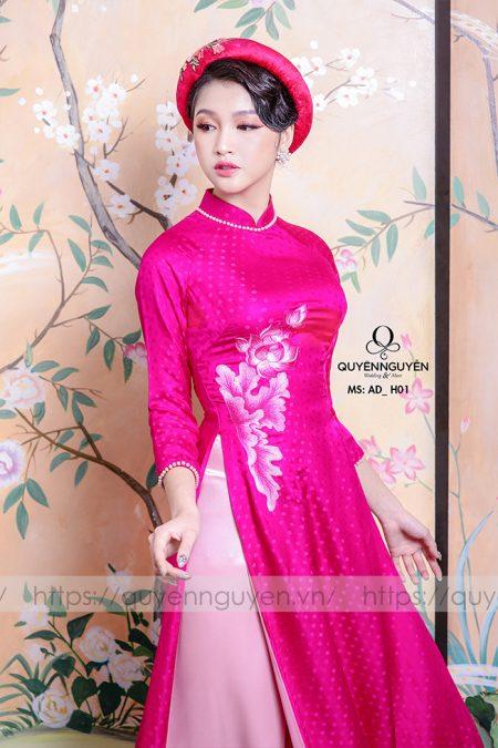 Áo dài hồng AD H01