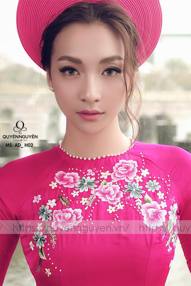 Áo dài hồng AD H02