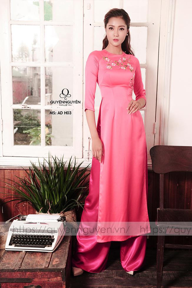 Áo dài hồng AD H03