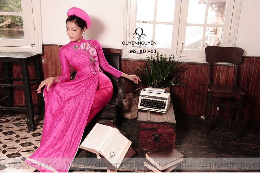 Áo dài hồng AD H04