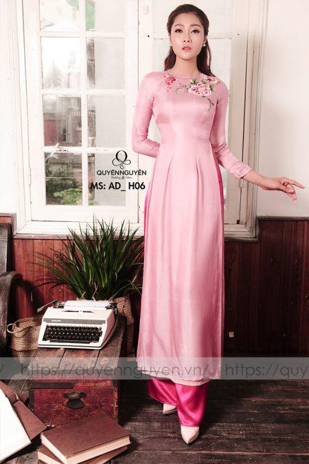 Áo dài hồng AD H06
