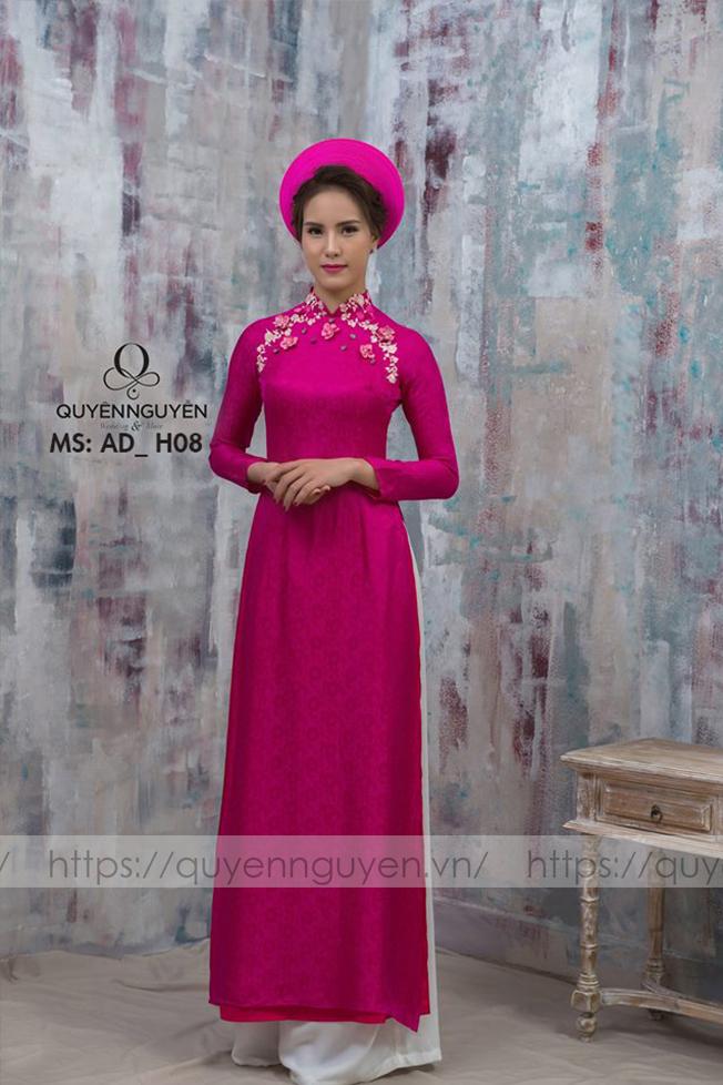 Áo dài hồng AD H08