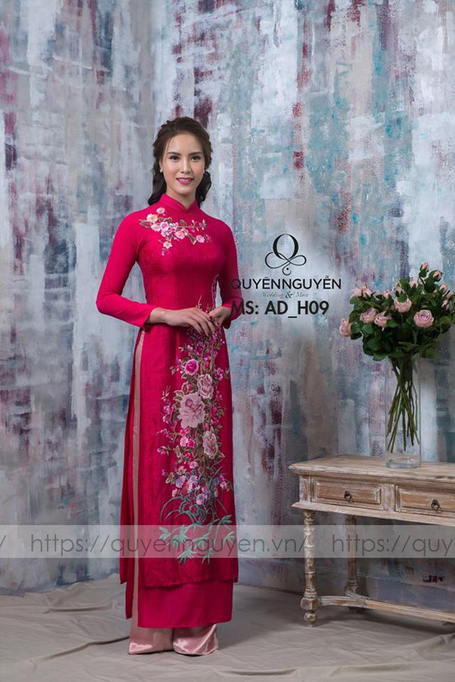 Áo dài hồng AD H09