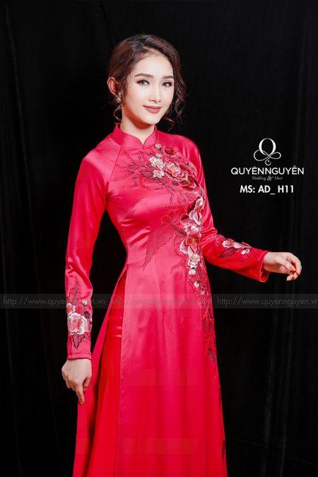 Áo dài hồng AD H11
