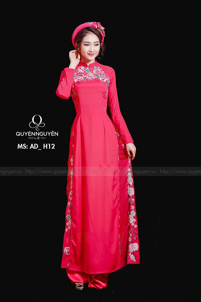 Áo dài hồng AD H12