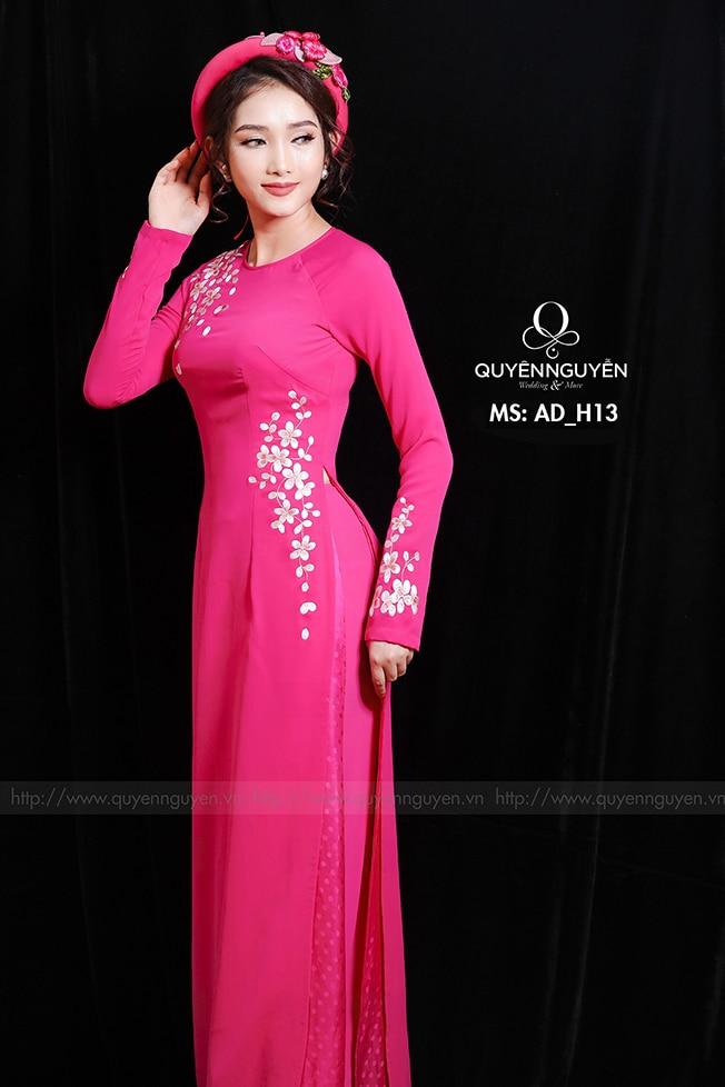 Áo dài hồng AD H13