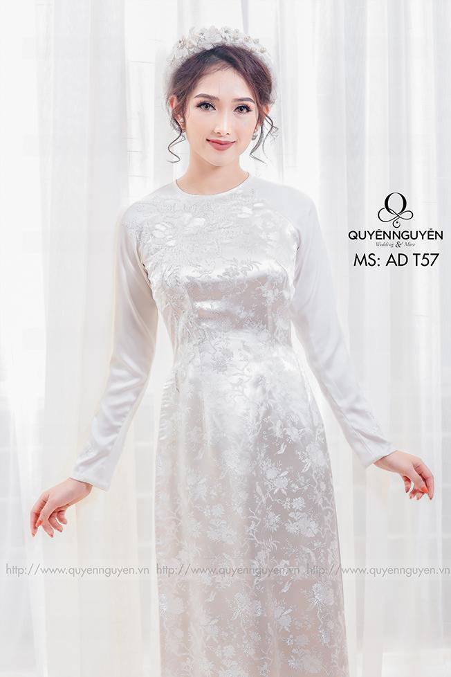Áo dài trắng AD T57