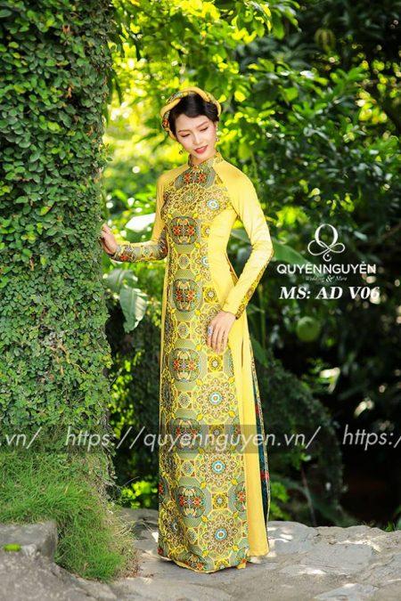 Áo dài vàng ADV06