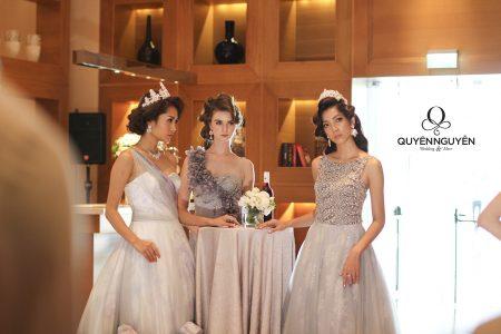 Váy cưới màu xám tro