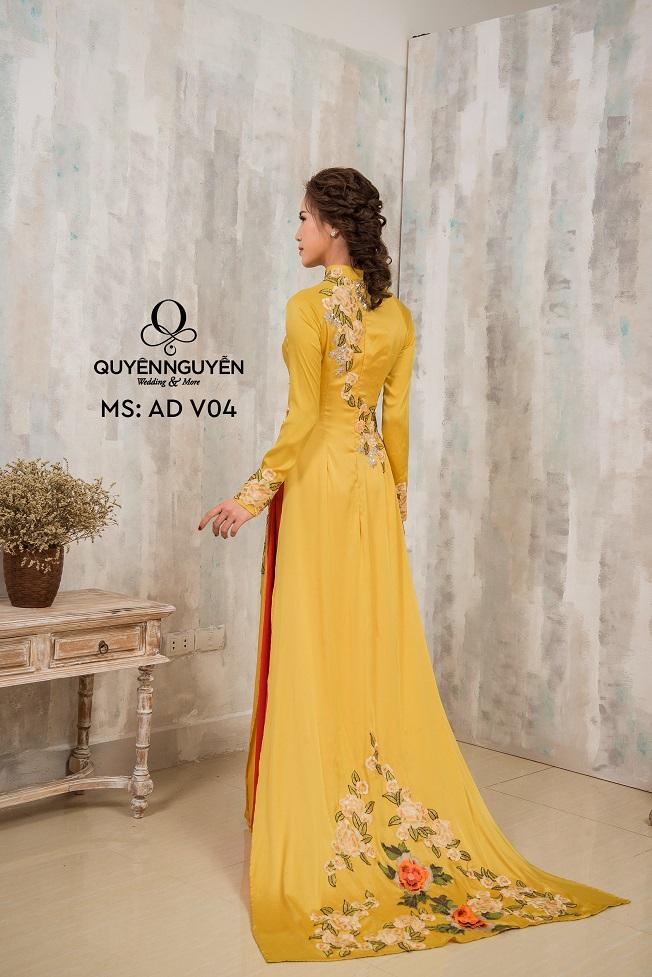 Áo dài màu vàng AD V04