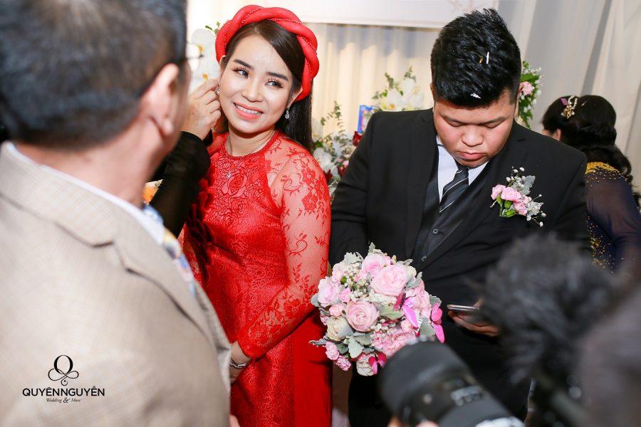 Áo dài cưới cho cô dâu mập tròn