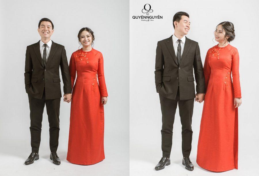 Cách chọn phù hợp áo dài ăn hỏi cho cô dâu béo