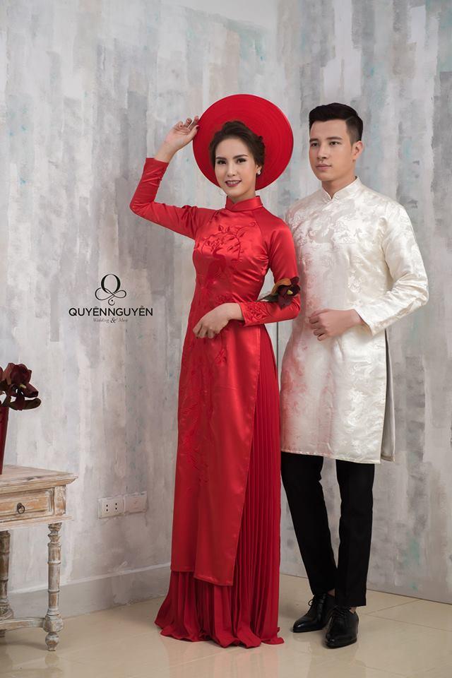 30 mẫu áo dài ăn hỏi đẹp nhất 2018 cho các cặp đôi