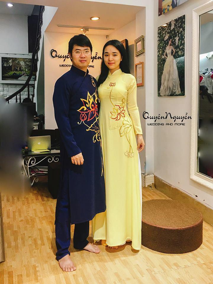 Áo dài đôi khi mặc thử tại Quyên Nguyễn Bridal