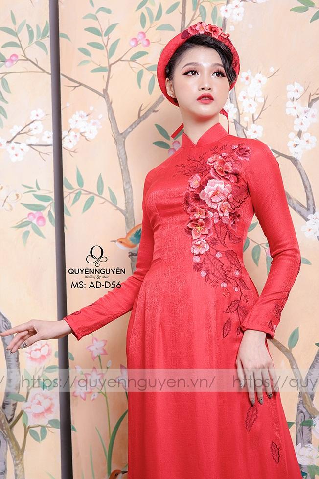 Áo dài đỏ AD D56