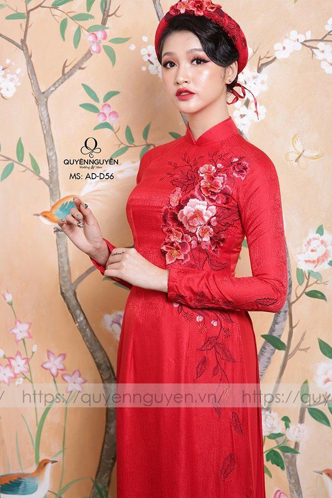 10 mẫu áo dài thêu tay