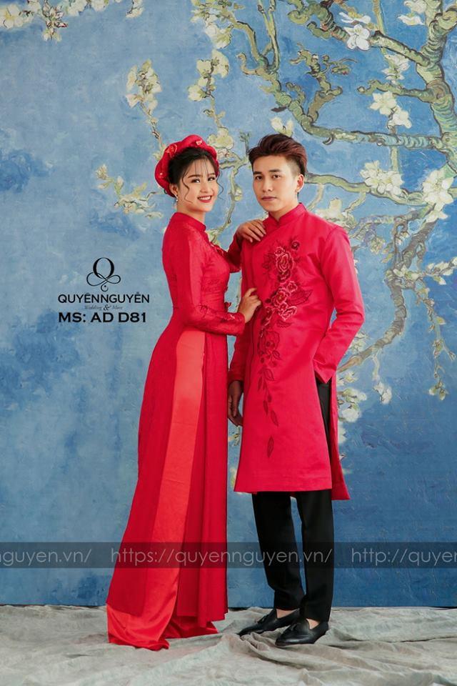 Áo dài đỏ AD D81