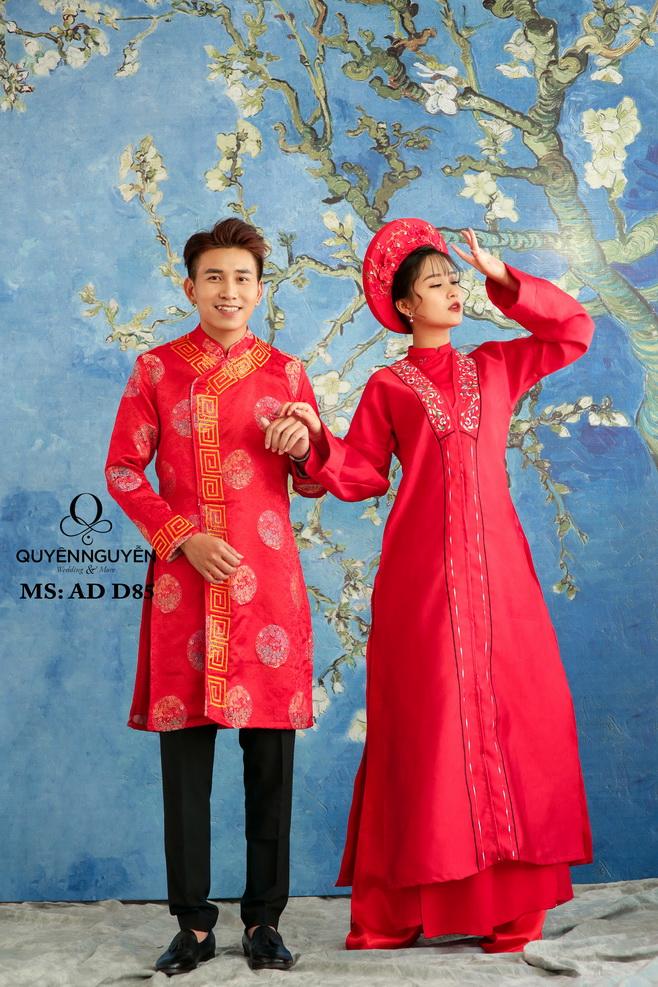 Áo dài đỏ AD D85