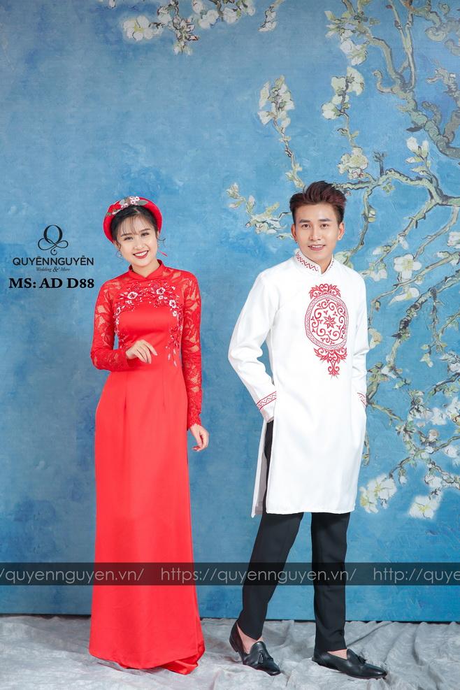 Áo dài đỏ AD D88