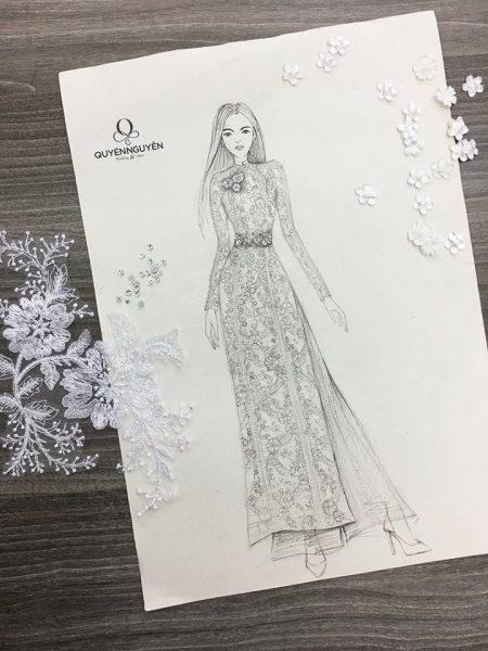 Mẫu phác thảo áo dài
