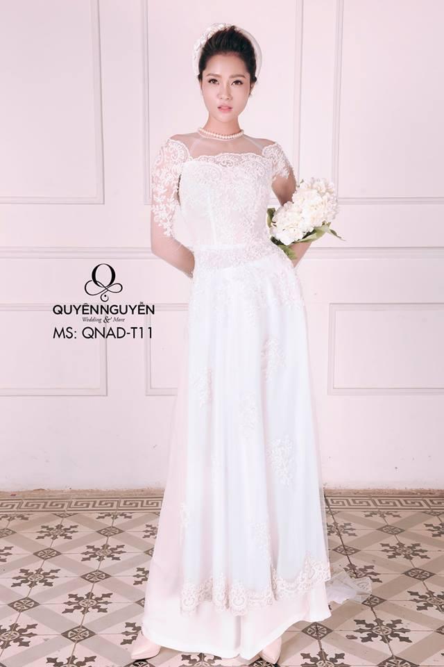 Áo dài trắng AD T11