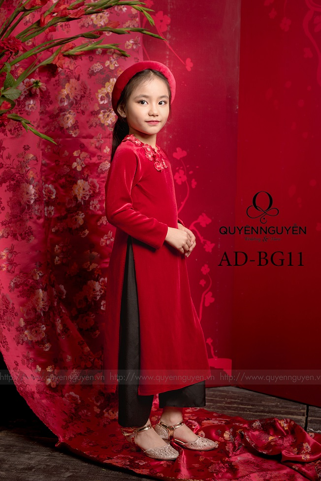 Áo dài trẻ em bé gái AD BG11
