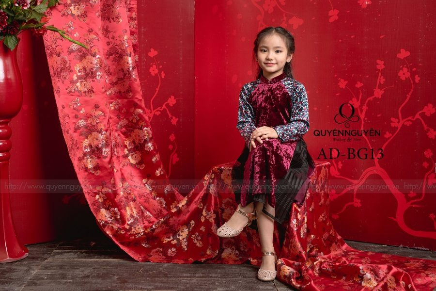 Áo dài trẻ em gái AD BG13
