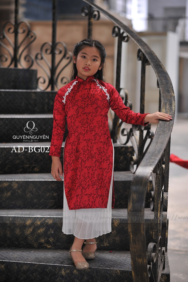 Áo dài trẻ em gái AD BG27