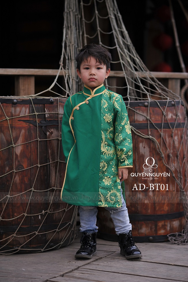 Áo dài trẻ em trai AD BT01