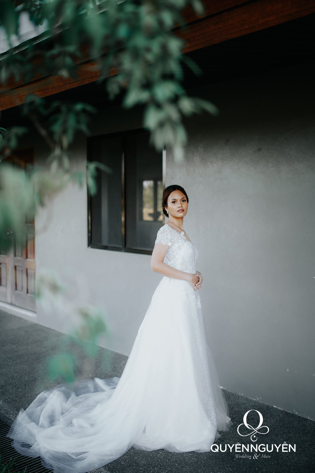 Váy cưới do Quyên Nguyễn thiết kế độc bản