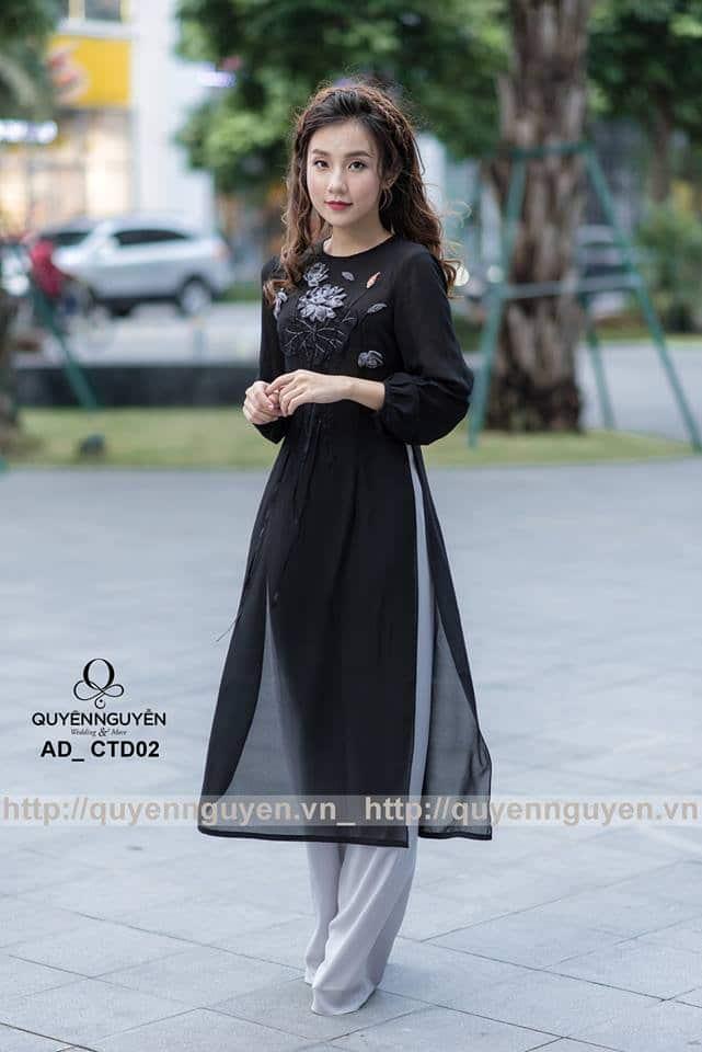 Áo dài cách tân nữ màu đen AD CTĐ03