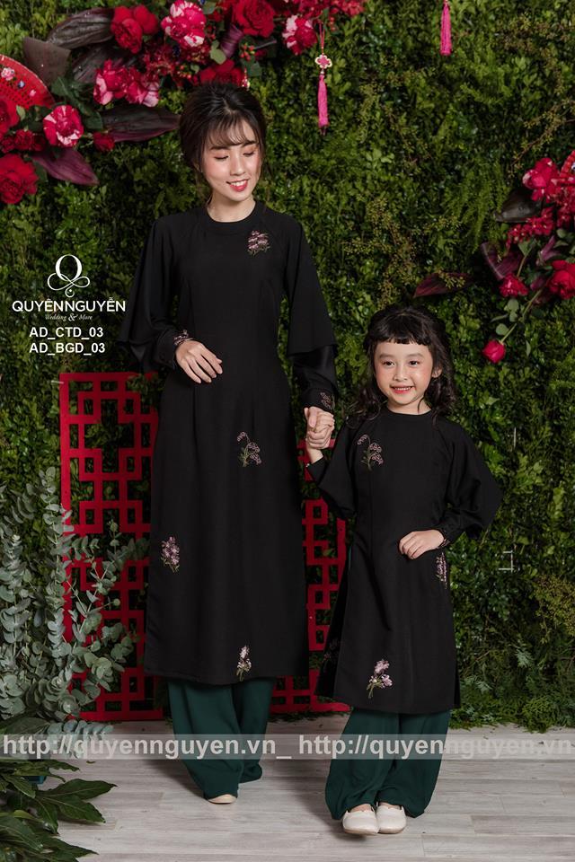 Áo dài cách tân màu đen