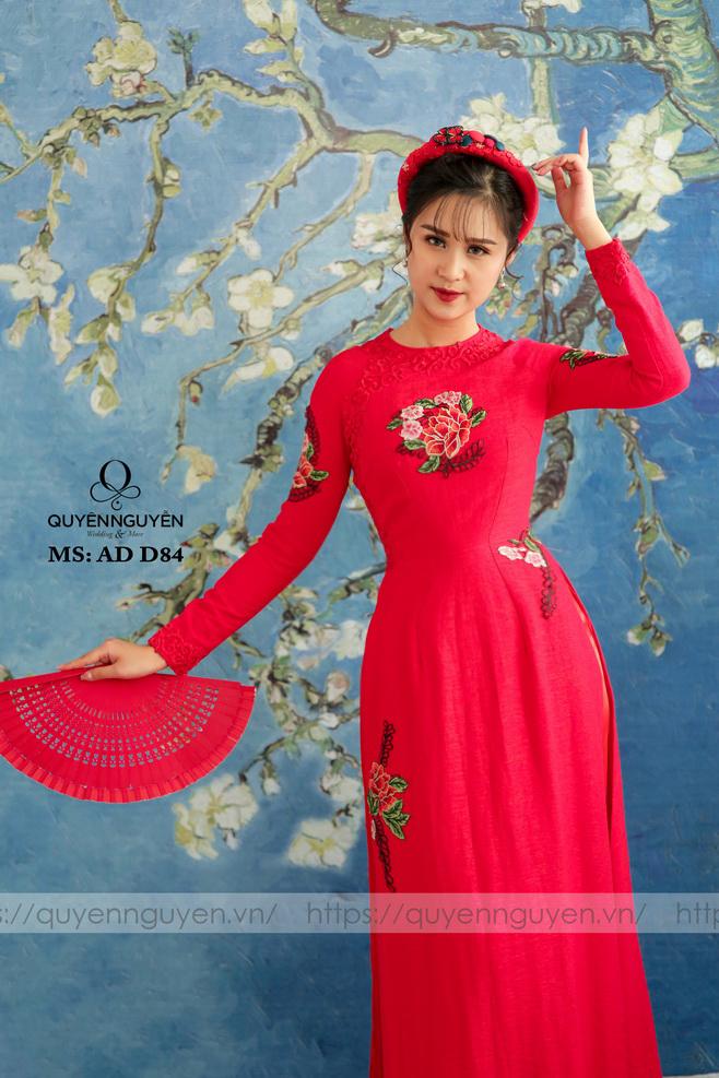 Áo dài đỏ AD D84