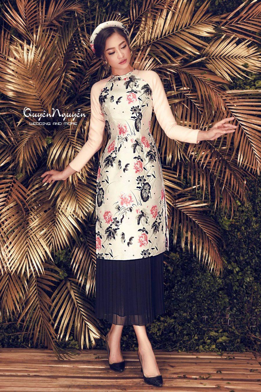 10 mẫu áo dài cách tân váy phong cách và duyên dáng