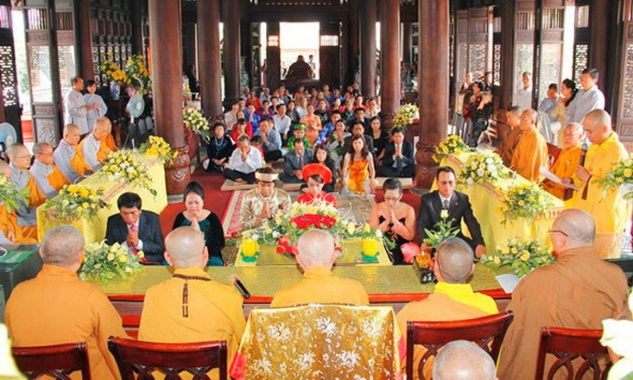Toàn cảnh buổi lễ Hằng Thuận