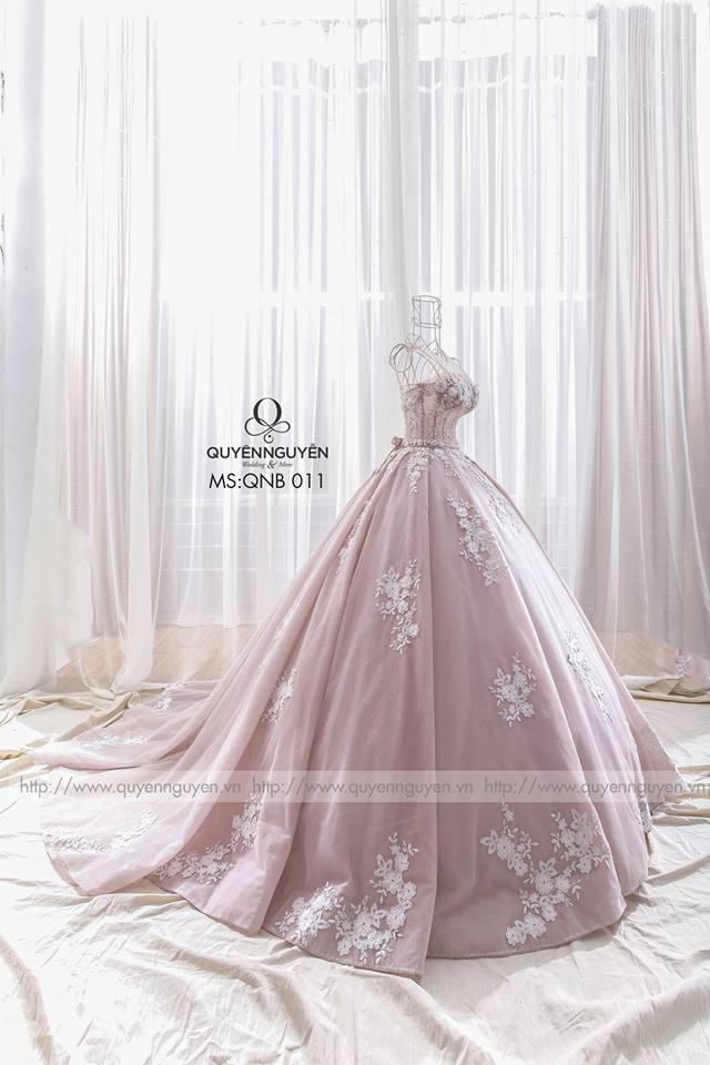 Váy cưới bồng QNB 011