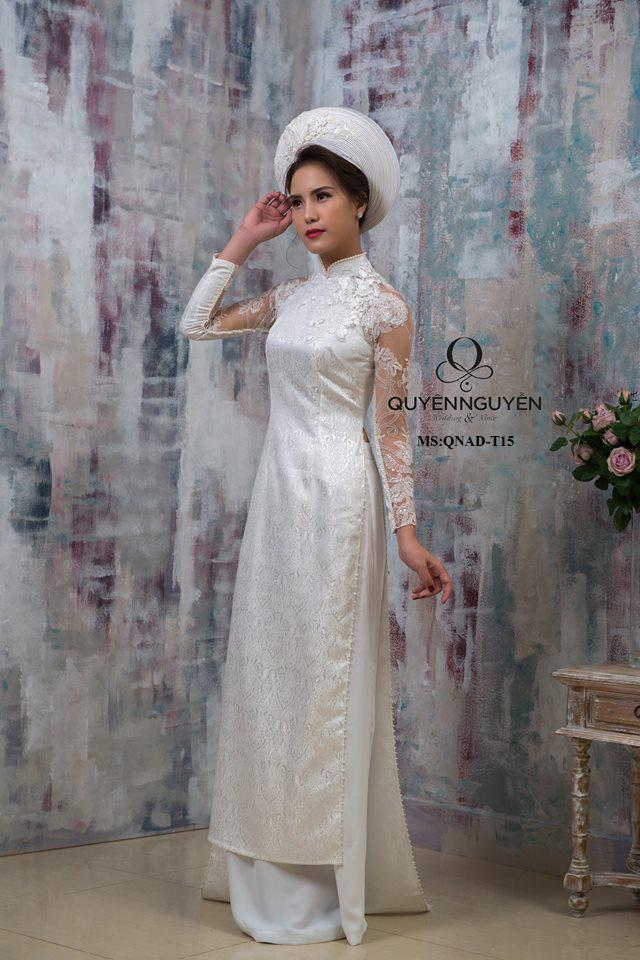 Áo dài trắng AD T16