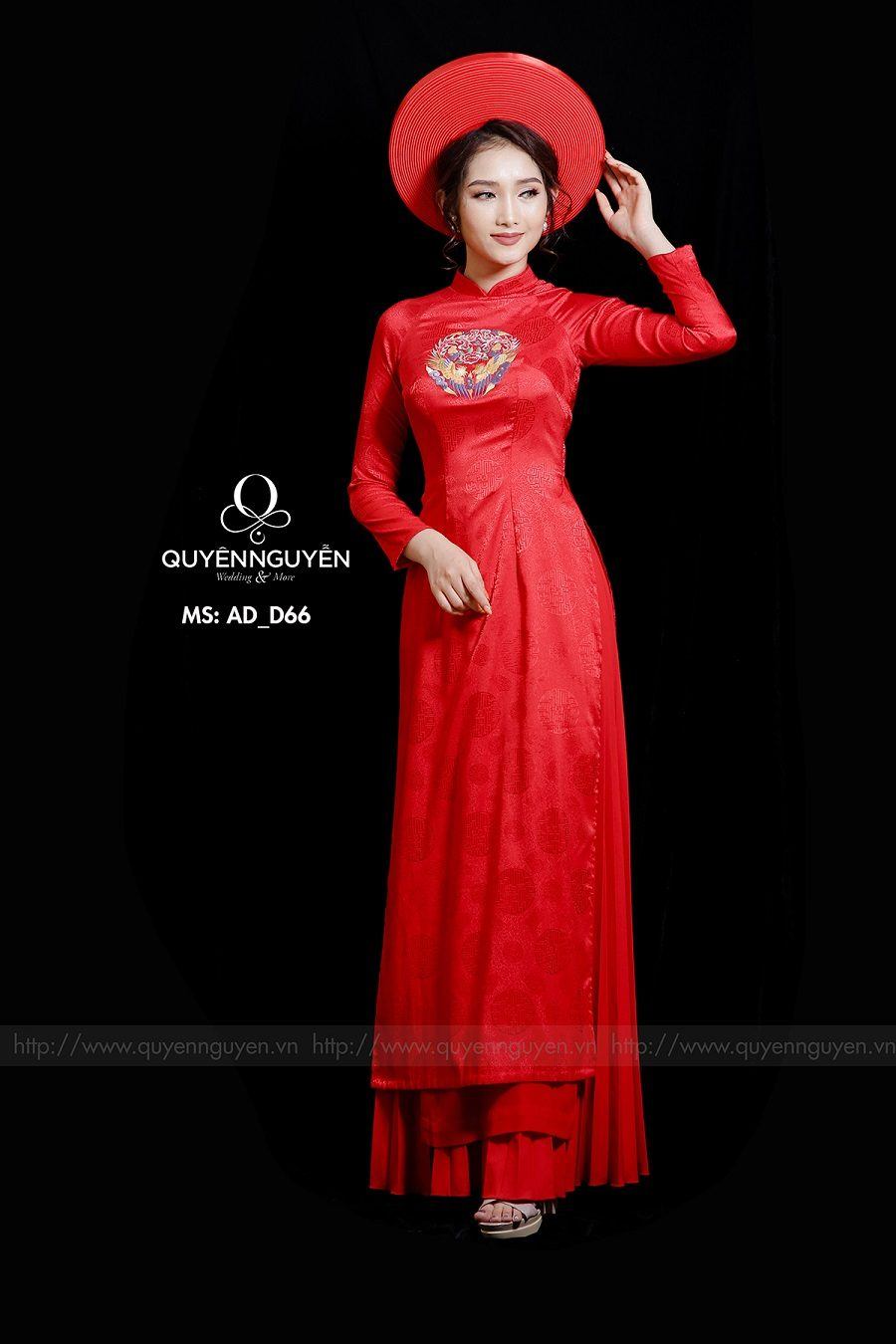 Áo dài đỏ AD D66