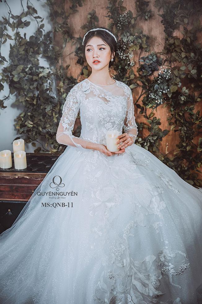 Váy cưới dáng bồng công chúa QNB 11