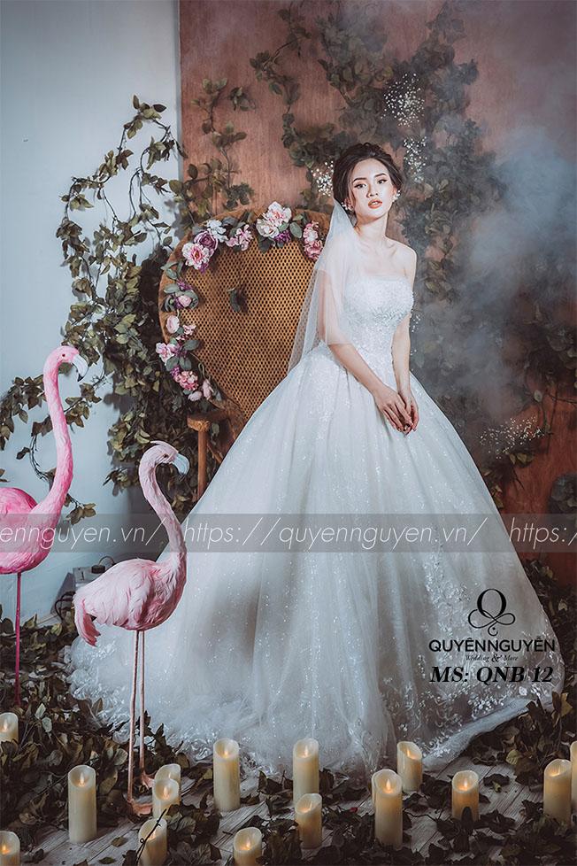 Váy cưới dáng bồng công chúa QNB 12