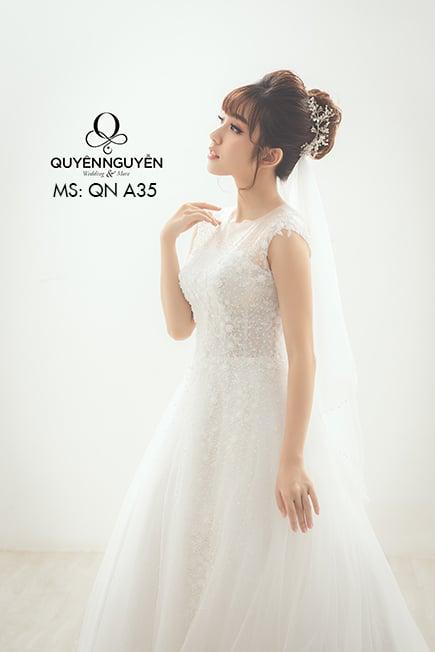 Váy cưới dáng A QNA35
