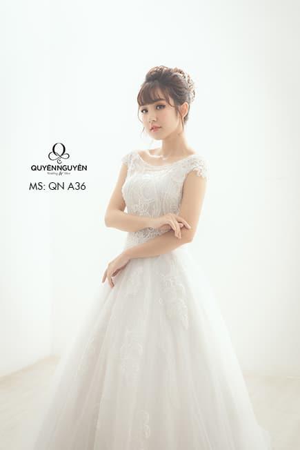 Váy cưới dáng A QNA 36
