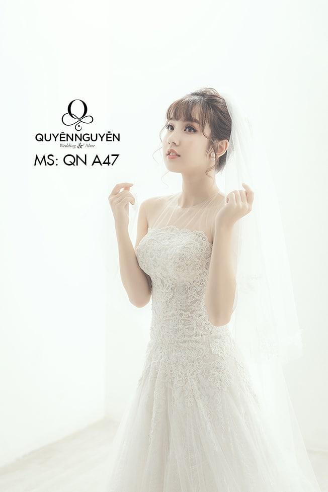 Váy cưới dáng A QNA 47