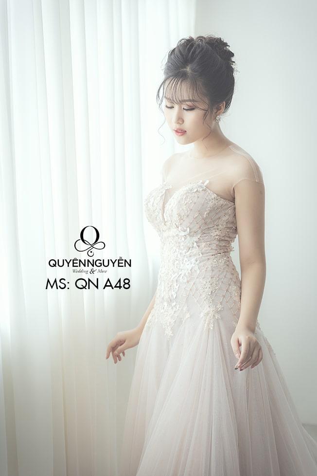 Váy cưới dáng A QNA 48