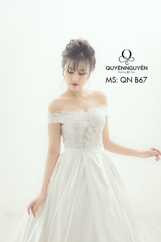 Váy cưới dáng A QNB 67