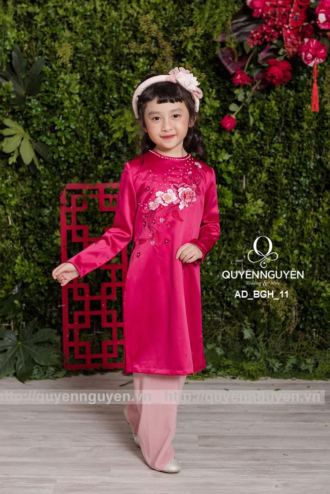 Áo dài bé gái màu hồng AD BGH11