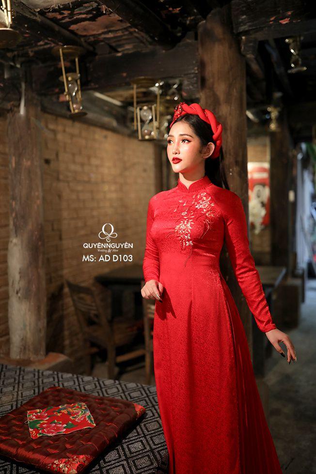 Áo dài đỏ ADD103
