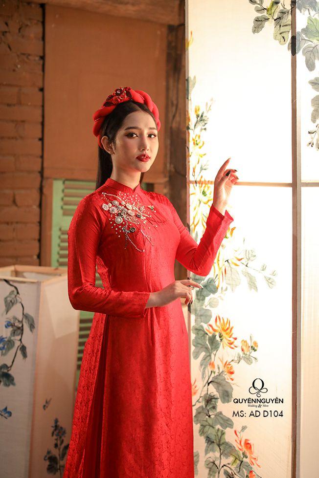 Áo dài đỏ ADD104